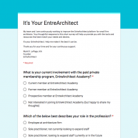 It's YOUR EntreArchitect